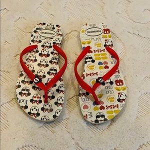 Girls Havaianas Minnie Mouse Flip-Flops 13 / 1y